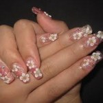 pink-flower-nail-art