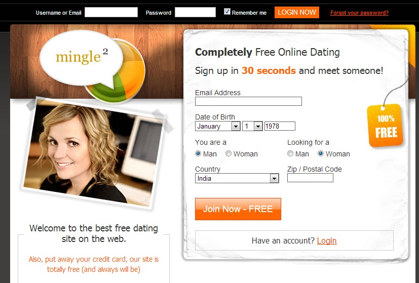 Free online dating service and chat website