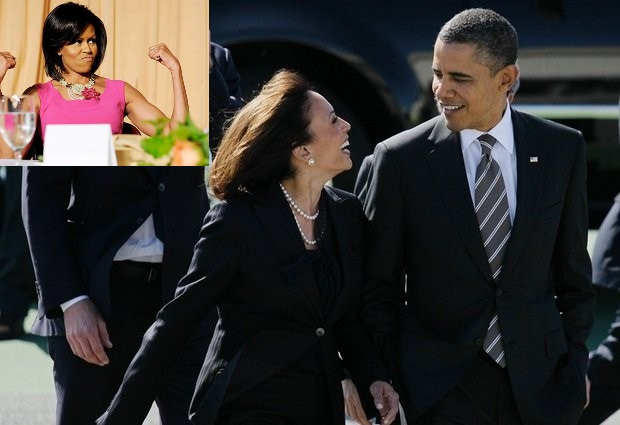 President Obama Flirting Best looking Kamala Harris – Indian Connection