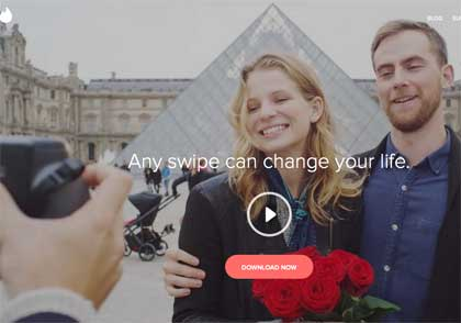 Tinder home page - a different perspective to how it is used?