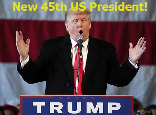 New 45th President of the USA
