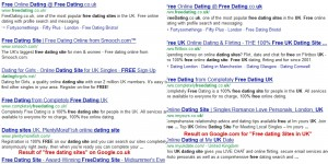 Online singles search their date on free dating sites