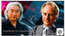 Richard Dawkins and Michio Kaku - head to head on purpose and love
